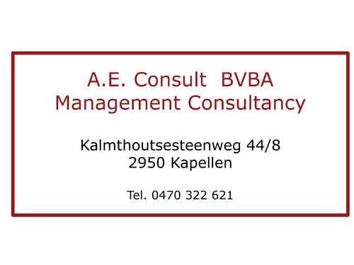 A.E. Consult BVBA
