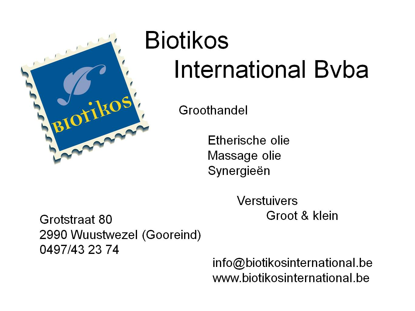 Biotikos International Bvba